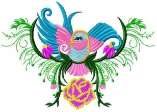 Decorated Bird 008