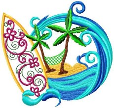 Applique Surf Board 002