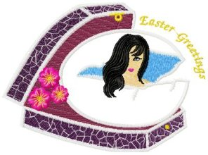 Easter Greetings Applique 001