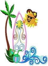 Applique Surf Board 004