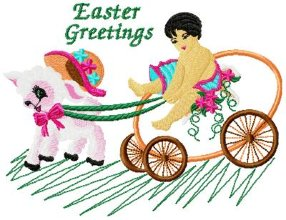 Easter Greetings Applique 008