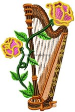 Harps with Flowers set