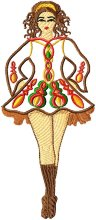 Celtic Dancers Applique Set