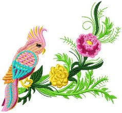 Decorated Bird 002